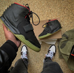 Size 9.5- Nike Air Yeezy 2 Nrg Solar Red 2012