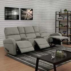 Copper Grove Herentals Grey Chenille 3-seat Recliner Sofa Grey Transitional, Mod