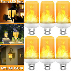 Led Flame Effect Light Bulb B22 Simulated Flicker Nature Fire Atmosphere Lamp