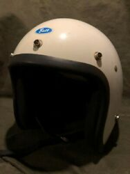 Made In 1974 Buco Ic 400 Jet Helmet From Japan White Used
