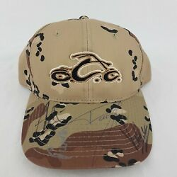 Signed Occ Orange County Choppers Camo Snapback Hat - H556
