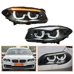 For Bmw F18 Headlamps 2011-2017 Hid Projector Led Drl Replace Oem Halogen
