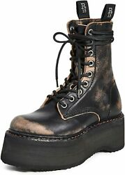 R13 Women's Double Stacked Lace Up Boots