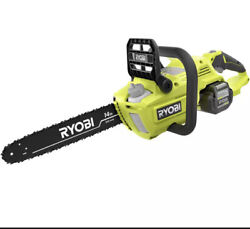 Ryobi 14 Cordless Chainsaw 40v Lithium Ion Battery Wood Cutting Tool Only