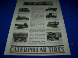 1919 Caterpillar Tires Truck Tires..1-page Sales Ad 615z