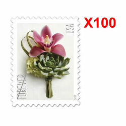 5 Sheets Of 100 Usps Forever Stamps 2020 Boutonniere Flower Free Fast Shipping