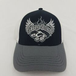 Orange County Choppers Dice One Fit Stretch Black Gray Hat - H586