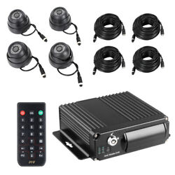 4ch Panoramic Vehicle Car Mobile Dvr Security Video Recorder + 4 Camera 1080p