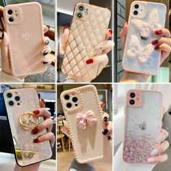 For iPhone 11 12 Pro Max XR XS Max 8 Plus Shockproof Girls Phone Case Cute Cover $7.89