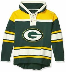Ots Nfl Green Bay Packers Men's Lacer Pullover Hoodie Logo Small