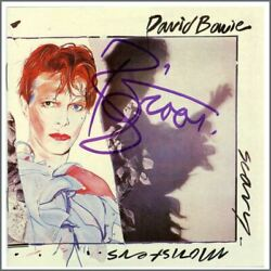 David Bowie 2001 Autographed Scary Monsters Cd Cover Uk