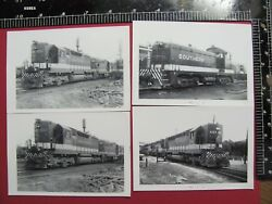 Lot Of 4 Photos Southern Railroad Diesel Locomotives 6851 3154 And 30532