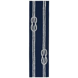 Area Rugs - Nautical Knots Indoor Outdoor Rug - Navy - 2and039 X 8and039 Runner
