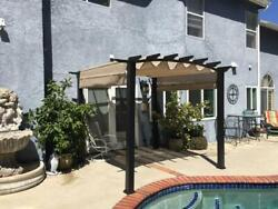 Hampton Bay 10 Ft. X 10 Ft. Steel And Aluminum Outdoor Patio Arched Pergola With
