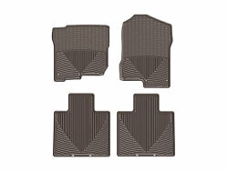 Weathertech All-weather Floor Mats For Nissan Titan / Xd - 1st And 2nd Row Cocoa