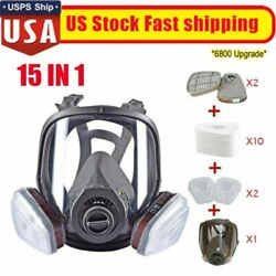 Full Face Gas Mask Respirator Painting Spraying W/filters For 6800 Facepiece