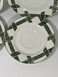 The Cades Cove Collection By Citation Saucers Lot Of 4 Collectible Dishes Stripe