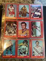 1973-74 Opc Hockey Complete Set A Little Weird Differant Color Front And Back