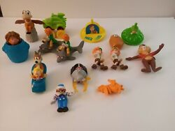 Vintage Random Mixed Lot Of Disney Pvc And Metal Figures Toys Characters
