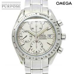 Omega Speedmaster Date 3211 30 Chronograph Mens Wristwatch Silver Dial Automatic