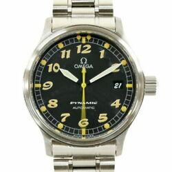 Secondhand Omega Ss Wristwatch Dynamic 5200.50 Silver Black Mens Fashionable