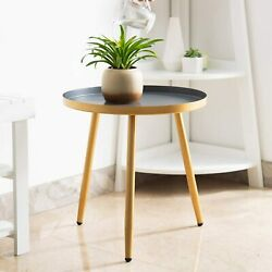Round Side Table Metal End Table Nightstand/small Tables For Living Room