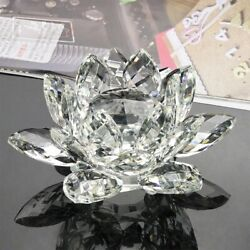 Crystal Swan Lotus Glass Character Town Paper Ornament Feng Shui Decoration