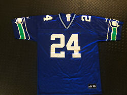 Shawn Springs 24 Seattle Seahawks Throwback Nfl Jersey Xl 90s Vintage