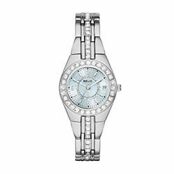Relic By Fossil Women's Queen's Court Quartz Stainless Steel Dress Watch Colo...