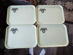 Lot Of 4 Vintage Camtrays By Cambro Manufacturing Co. With Initials Rms