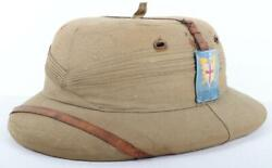 Ww2 British Land Forces South East Asia Bombay Bowler Pattern Pith Helmet