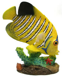 Novelties And Gifts 1255530-y Resin Decorative Tropical Fish - Yellow