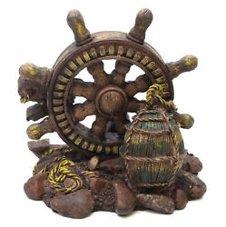 Novelties And Gifts 1256068a Old Relics Of The Sea - Resin Antique Nautical Wheel