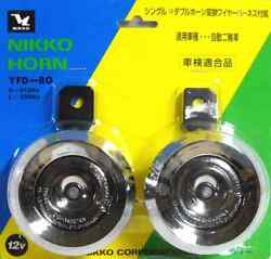 Nikko Motorcycles Dual Horns Yfd-80 Chrome-plated Made In Japan F/s