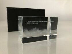 Mercedes Amg Petronas Formula One Team Glass Paperweight - Unique F1 Collectable
