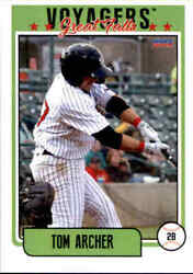 2019 Great Falls Voyagers Choice 3 Tom Archer Northport New York Baseball Card