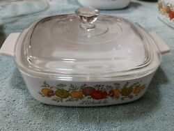Vintage Corning Ware Spice Of Life Le Echalote A-1-b Qt