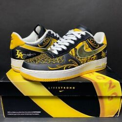 Rare Nike Air Force 1 Low Livestrong Pack Mr.cartoon [menand039s 10.5 ]