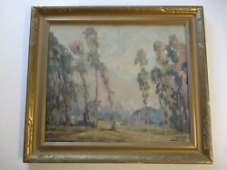 Antique Large Florence Young Painting Lucky Baldwin Ranch Landscape Listed Art