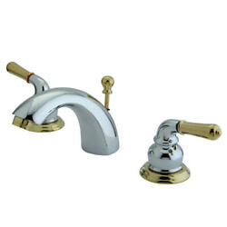 Elements Of Design Es295 Double Handle 4 To 8 Mini Widespread - Brass