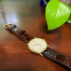 18k Gold Solid Omega De Ville Menand039s Watches