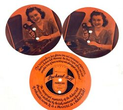 4 Packard Bell Phonocord Girl Rare Phonograph Picture Record 5 Advertisement