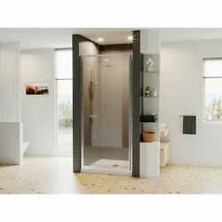 Coastal Shower Doors Legend Framed Hinged Shower Door In Chrome With Clear Glass