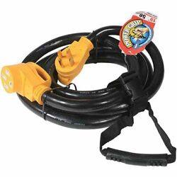 Camco 55194 Rv 15and039 50-amp Male And 50-amp Female Powergrip Extension Cord