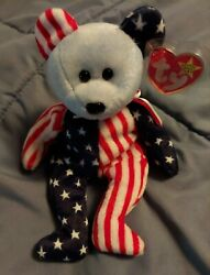 Ty Beanie Babies Extremely Rare Spangle Blue Face With Errors