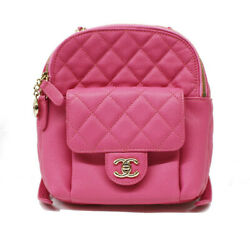 Chanel Backpack As0004 Caviar Skin Ping K Day Pack Women #x27;S Secondhand $6032.44