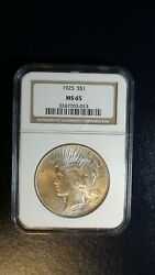 1925 P Peace Silver Dollar Ngc Ms65 Gem Uncirculated 1 Coin Buy It Now