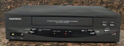 Daewoo Dv-t5dn Vhs Vcr Player Recorder No Remote Works Great