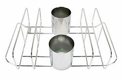 Cataumet Bbq Rib Rack And Beer Can Chicken Holder Smoking Rack Fits Big Egg Styl
