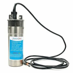 12v Dc 3.2gpm Stainless Shell Submersible Deep Well Water Pump Solar Battery Esa